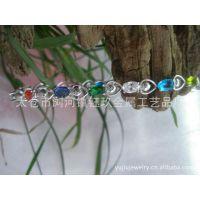 厂家品牌银饰批发∶925银手链,纯银手链,心型手链,925银饰品