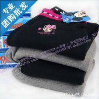 专柜正品DISNEY迪士尼儿童保暖裤柔棉拉绒加厚保暖裤M9210.