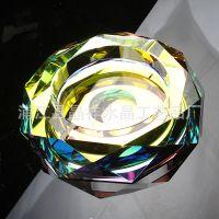 水晶酒店用品厂家直销晶韵牌大规格双层八角水晶烟灰缸