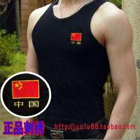 正品剌绣特种兵短袖T恤背心军迷训练服体能服战术背心迷彩服男