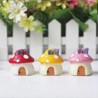zakka杂货 爱情海迷你小房子 微景观配件蘑菇小房屋摆件背景道具