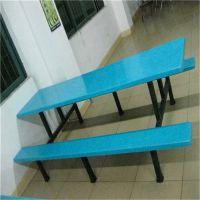 茂名条凳加边彩色定做组合桌椅 康腾生产专用民办学校教师学生用的餐桌椅