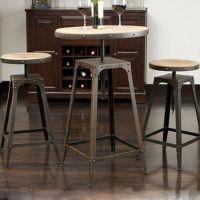 河北创客LOFT美式乡村 铁艺吧台酒吧咖啡桌椅酒吧凳休闲桌高脚吧台桌椅子