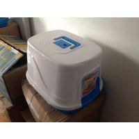 创先封闭式猫砂盆 单层抗菌猫厕所