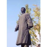 广东原著厂家制作名人铸铜雕塑 鲁迅雕像 铸铜人物雕塑 可来图定制
