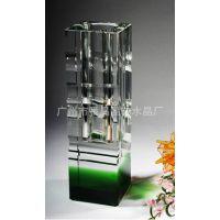 专业生产水晶工艺品——水晶花瓶(适宜家具、公共场所高档的)