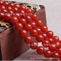 天然水晶 天然玛瑙 红玛瑙散珠 半成品手链项链饰品批发