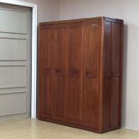 美希恩金丝木家具中式开门组合实木大衣柜整体平开门衣橱