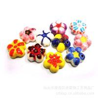 【厂家直销】陶瓷饰品 可爱动物造型 纯手工绘色多彩陶瓷挂件吊坠