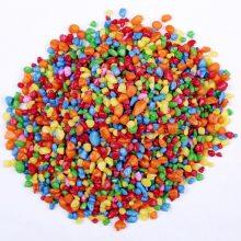 彩色鹅卵石 染色石 鱼缸沙 盆栽用装饰石批发彩石 水草石 鱼缸石