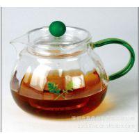 YM580 南瓜壶(绿)茶壶  高硼硅绿色环保玻璃