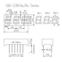 XDK-4301BS、0.4英寸三位单色数码管、4031BH红光数码管、4031BG绿光共阳