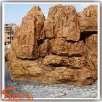 假山流水景观设计 房地产装饰黄腊石假山工程承包 仿真石头
