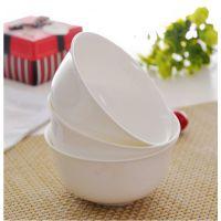 厂家批发超薄出口骨瓷陶瓷纯白正品骨质瓷餐具中式小米饭碗金钟碗