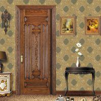森德堡木门厂直销仿古雕花大门开放漆雕花房门美国白蜡田园风格实木门SDB-SQL001