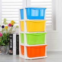 福强3705宜家抽屉式收纳盒食品级多层塑料储物彩色柜糖果盒揭阳