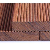 马来菠萝格 户外天然防腐木地板 阳台花园实木高档地板碳化木板材