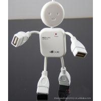 厂家批发人形HUP  卡通人形HUP人形一转四hup 一拖四集线器