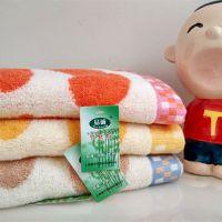 厂家直销 竹纤维狗印毛巾 超厚透气面巾超强吸水手感柔软