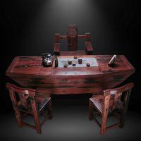 东莞虎门船木家具厂直销古典中式功夫茶套装茶台组合老船木家具