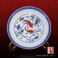 艺术山水瓷盘厂家 复古日式大瓷盘 四方水果瓷盘