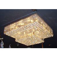 LED吸顶灯水晶灯家用方形客厅灯具灯饰卧室现代简约大气水晶灯