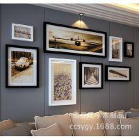 厂家订做实木客厅照片墙 创意简约相片墙大尺寸相框企业文化墙
