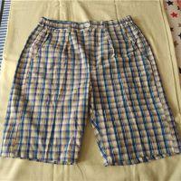 厂家直销纯棉老粗布男式沙滩裤男式短裤全棉夏季新款钾肥加大码