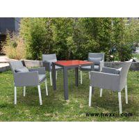 诺佰斯BML15248彩色玻璃方桌主题餐厅外摆家具户外休闲桌椅餐饮桌椅