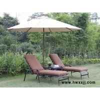 馨宁居室内泳池家具,海边游泳池休闲沙滩椅,午休沙发床铸铝躺椅