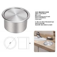 洗手间台面圆形垃圾桶 304不锈钢翻盖收纳桶 佳悦鑫带盖清洁筒 特价包邮