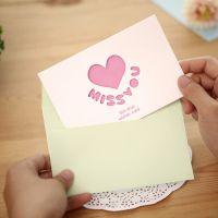 韩国镂空明信片 恋人爱意表白祝福卡片 带信封立体贺卡批发