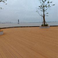 木塑复合材料防潮防滑地板145H21C塑木空心地板高档环保木塑材料