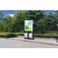 不锈钢广告垃圾箱厂家供应中泰广告垃圾箱 40L容积