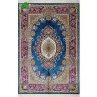 亿丝厂家直销客厅卧室手工真丝花开富贵波斯地毯166x243cm