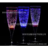 供应批发优质婚庆香槟杯 pc杯 塑料杯 发光高脚杯
