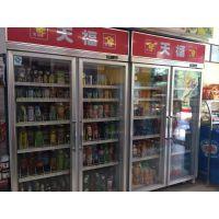 超市饮料展示柜 便利店饮料展示柜 双门展示冷柜 雅绅宝展示冰柜