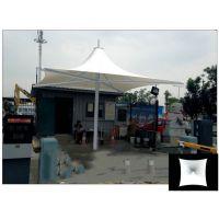 别墅庭院张拉膜结构凉亭/廊亭,膜结构白色四角伞