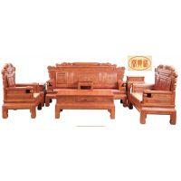 供应内蒙古鄂尔多斯帝豪家具店 缅甸花梨木家具价格 红木知识 古典 财源滚滚沙发1+2+3