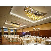 大型酒店走廊玻璃艺术灯饰