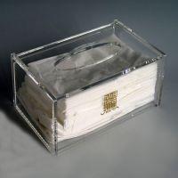 亚克力纸巾盒酒店具家KTV抽纸盒创意简约透明长方形抽纸盒手纸盒