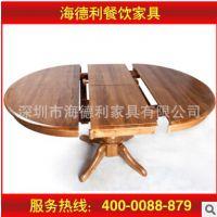 全实木圆形餐厅餐桌 快餐店/餐厅圆形餐桌 实木桌子
