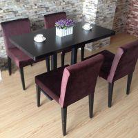 海德利餐厅桌椅板凳定制 地中海黑色餐桌椅 咖啡厅桌椅