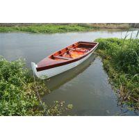 庆荣木业平底一头尖木船 欧式手划船 农用捕鱼木船 景观装饰船