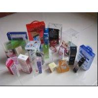 透明塑料柔软线胶盒,丝印、烫金高周波PVC折盒包装