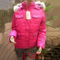 品质羽绒服 冰飞8877 短款羽绒服 女式羽绒服 毛领红色藏青黑色