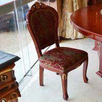 刘一手火锅店实木靠背西餐椅 简约美式餐厅会所单人椅子