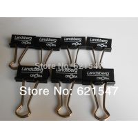 Custom logo clips, 19mm Multi-color Metal Binder Clip , Foldback Clip,logo print