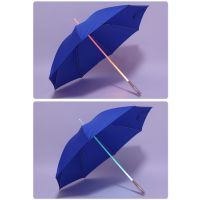 YL 【雅乐制伞】创意礼品直杆伞 LED发光伞 全纤维自动骨架 190T碰击布
