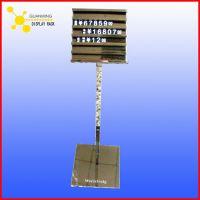 定制商场不锈钢钛金展示架 展示立牌来图定做